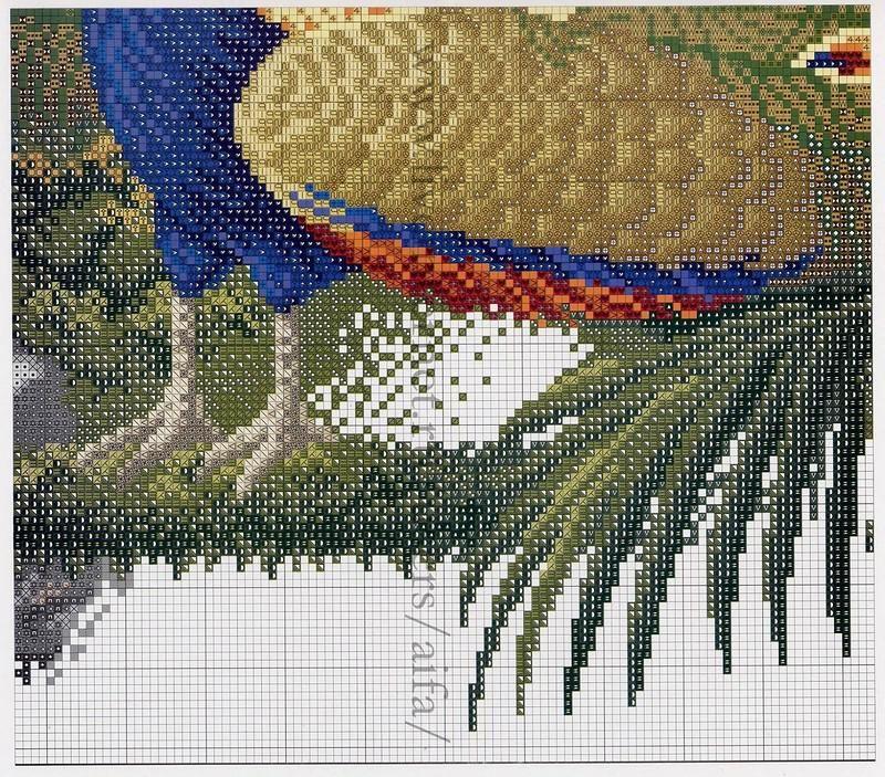 Павлин схема вышивки картинки