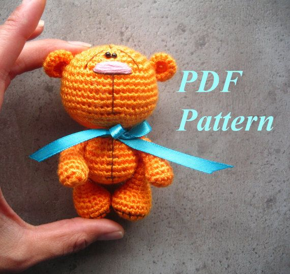 Amigurumi crochet bear pattern, PDF pattern, ENGLISH language