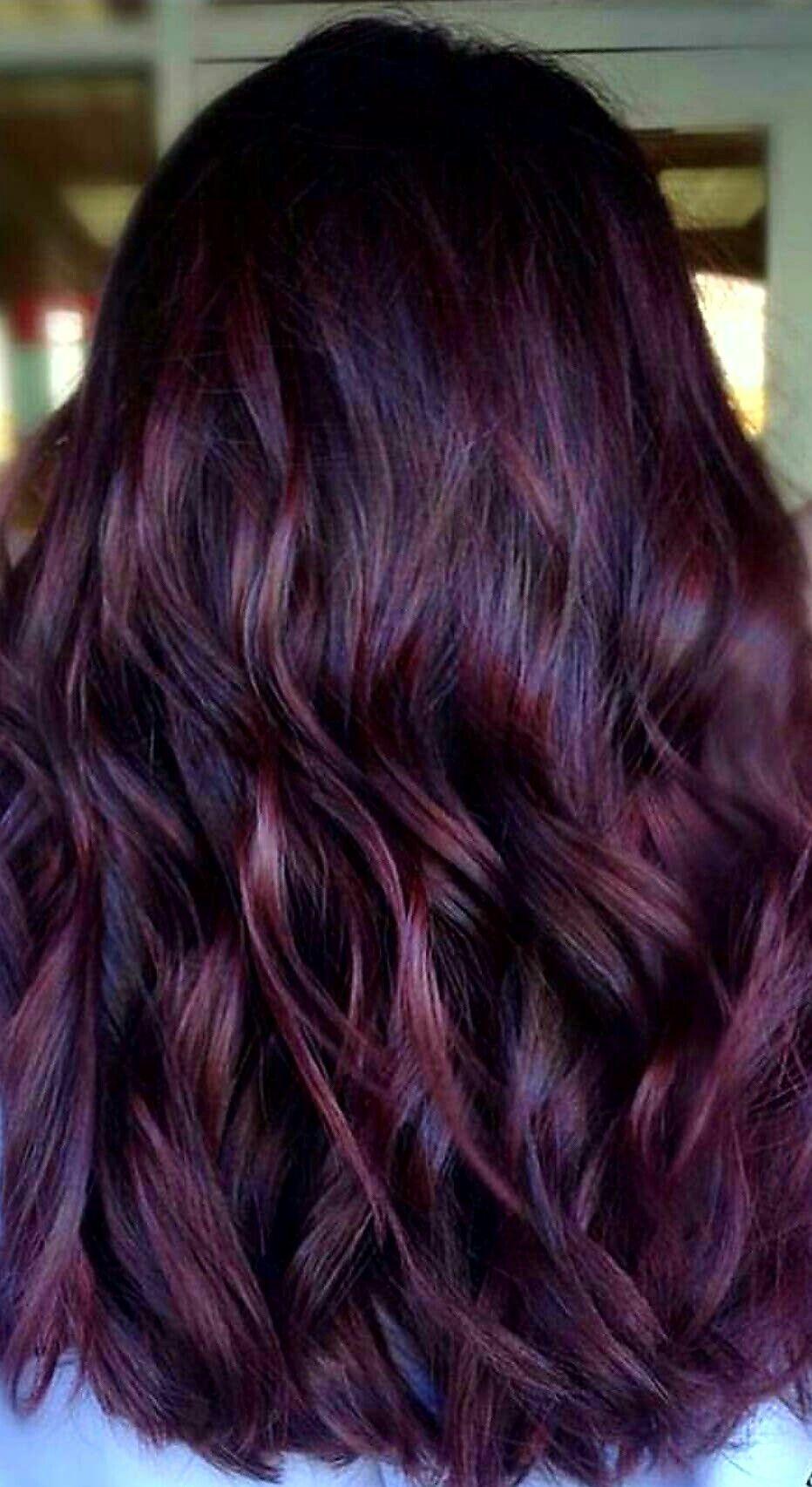 Themisfitblonde Love This Brunette Hair Color Hair Styles Burgundy Hair