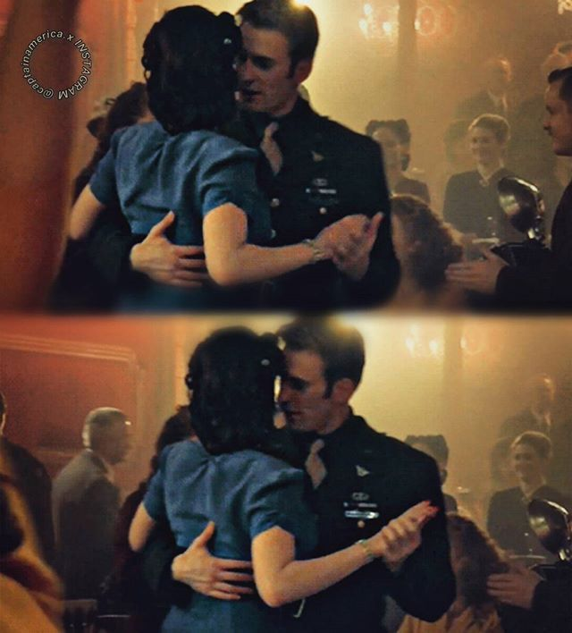 Captain America And Peggy Dancing