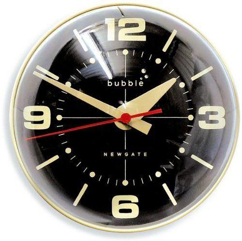 1970s Retro Bubble Wall Clock - Cream - 10 x 10 x 9-inches by Newgate,$99.99