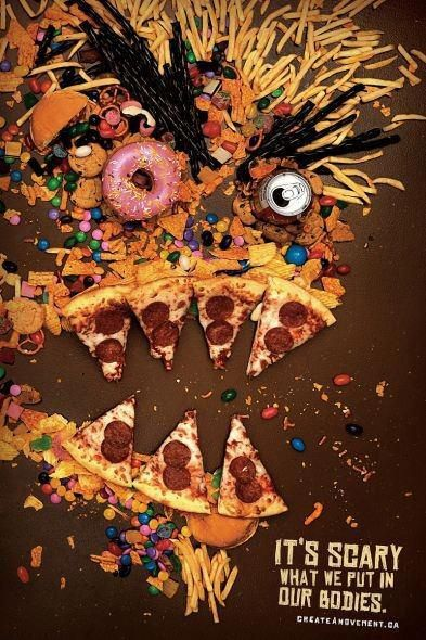 themoreuknow Does unhealthy food look scary now? P