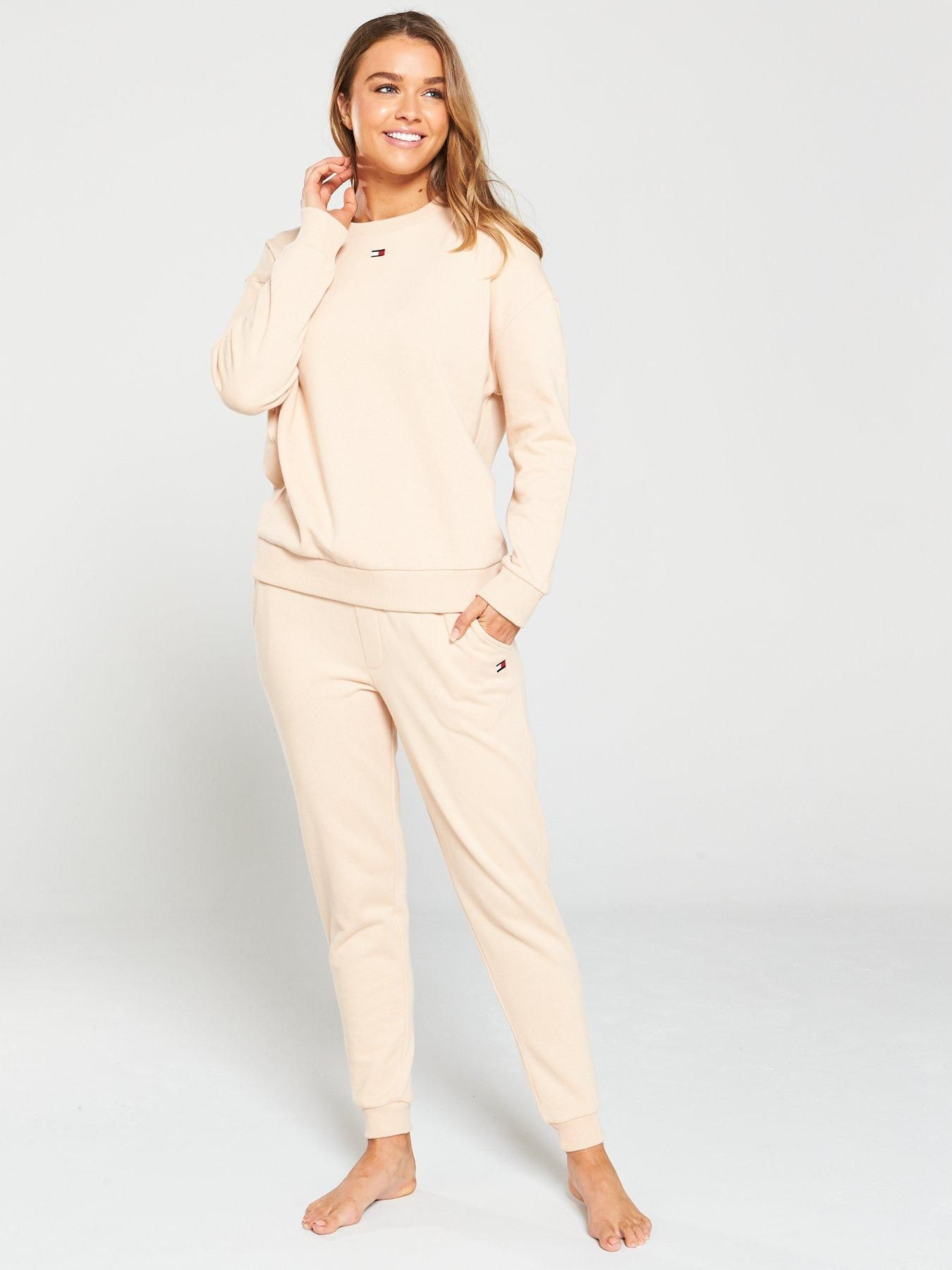 Tommy Hilfiger Crew Neck Track Lounge Top Almond | Tommy