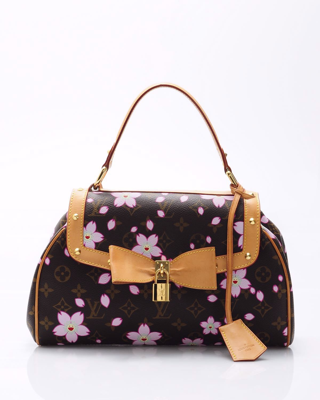 73a420d9b6c Louis Vuitton Limited Edition Murakami Cherry Blossom Sac Retro Satchel