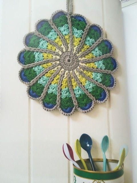 #crochet potholder pattern in Crazy for Crochet book