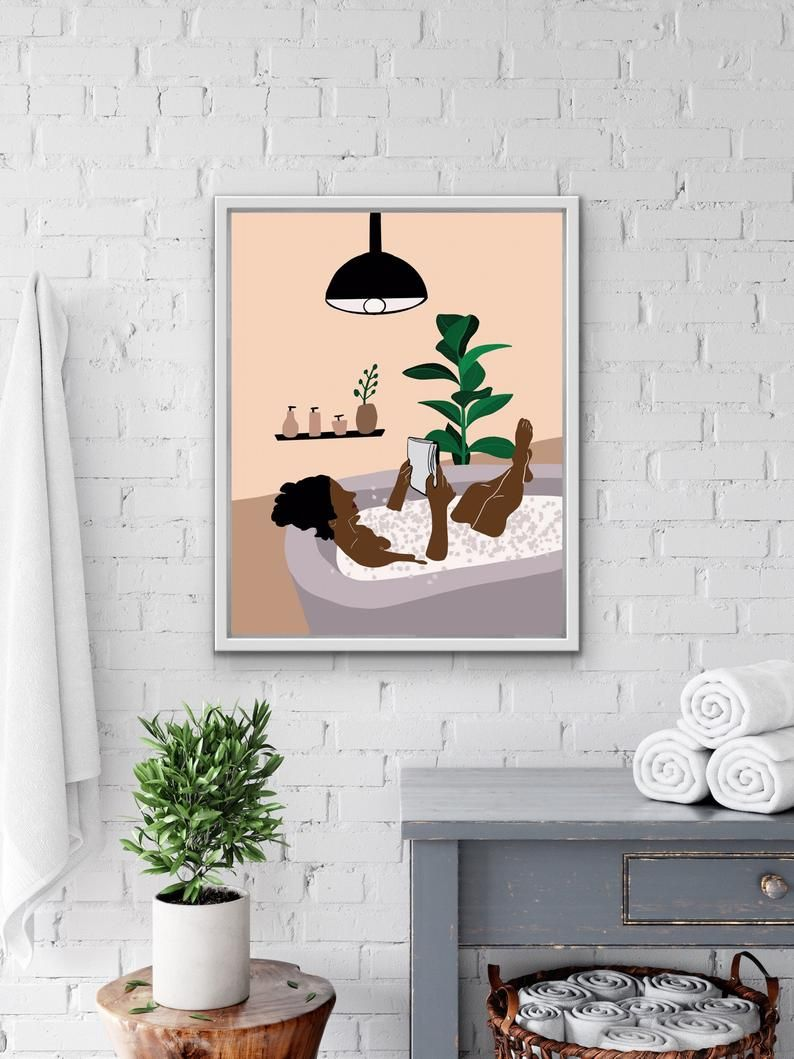 Bathroom Wall Decor Black Woman Wall Decor African American Etsy In 2021 African Wall Art Boho Wall Art Explorer Wall Art