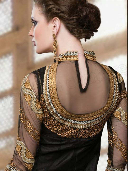 Indian Ladies Suits Back Neck Designs Back neck designs of