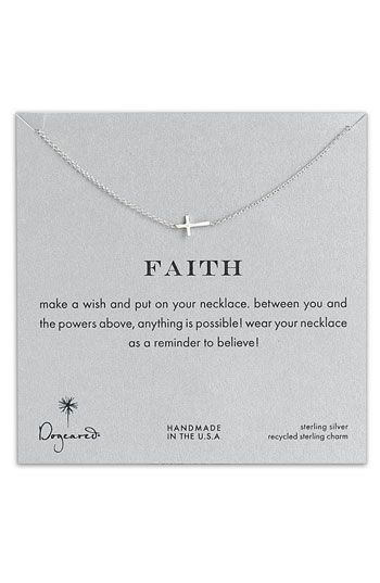 """""""make a wish and put on your necklace. between you and the powers above, anything is possible! wear your necklace as a reminder to believe!  Dogeared 'Reminder - Faith' Pendant Necklace 