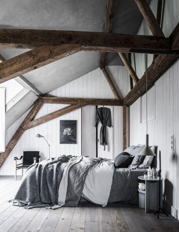 4x GRIJS INTERIEUR • grijze slaapkamer met lakens in verschillende ...