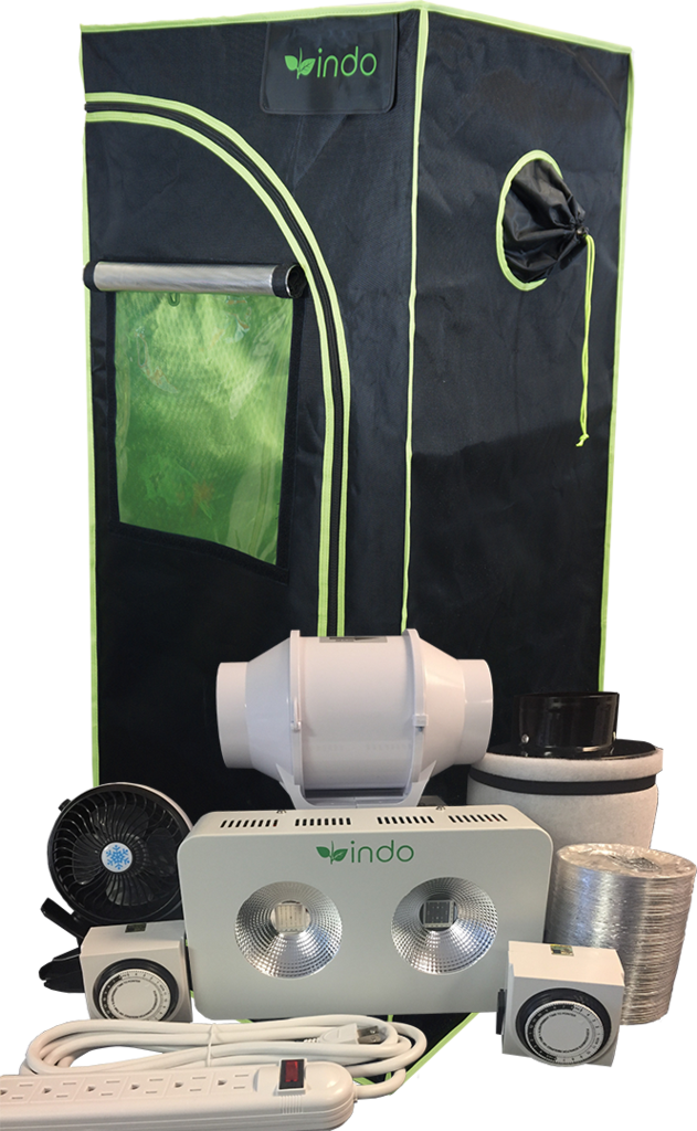 Indo Complete Grow Kit 24 x24 x48  1680D grow tent with high-intensity 400W COB LED grow light. I might just get this setup as its only $460 sum and its in ...  sc 1 st  Pinterest & Indo Complete Grow Kit 24