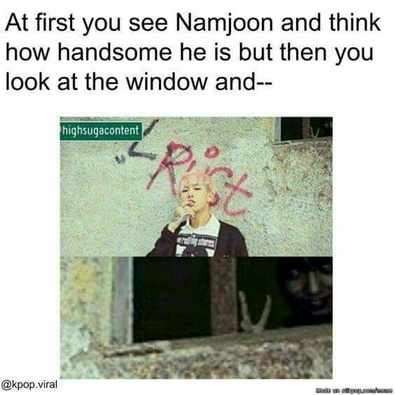 "I heard if you say ""Oppa"" 5 times then take a pic in front of a window you'll see Jeon Jungkook staring at you with a peace sign through the window #windows10"
