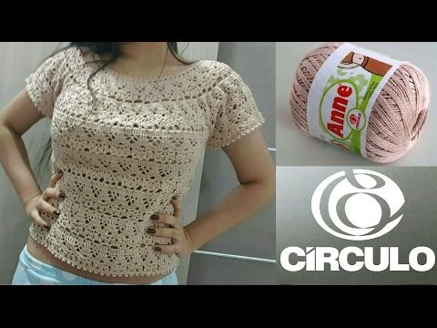 Blusa Gris Crochet Fácil parte 1 de 2 - YouTube | crochet ...