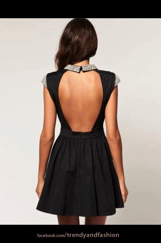 Black and backless