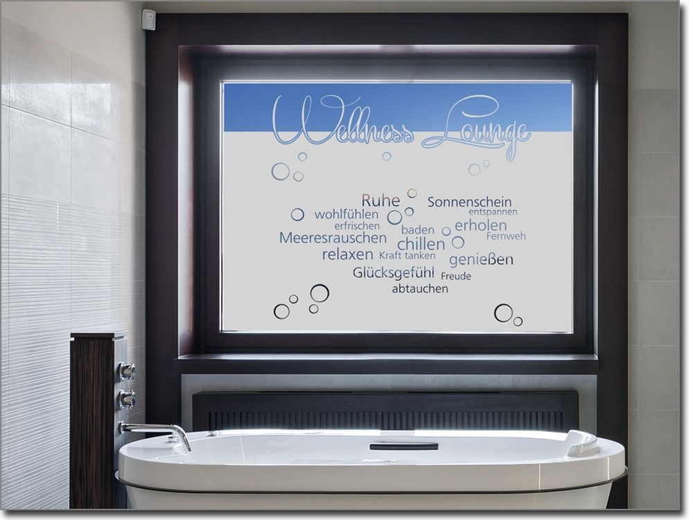 Fensterfolie für das Bad, Gäste-Wc oder Toilette Sichtschutzfolie - folie für badezimmerfenster