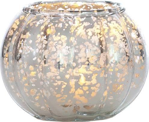 Short Silver Mercury Glass Vase Flowers Pinterest Flowers