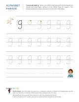 lowercase g letter tracing worksheet with easy to follow arrows showing the proper formation of. Black Bedroom Furniture Sets. Home Design Ideas