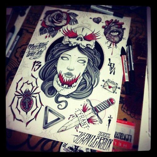 Jean Le Roux- tatuador e artista na medida para aquele confere obrigatória - vai me inspirar mto - fecha com meu estilo pra caramba