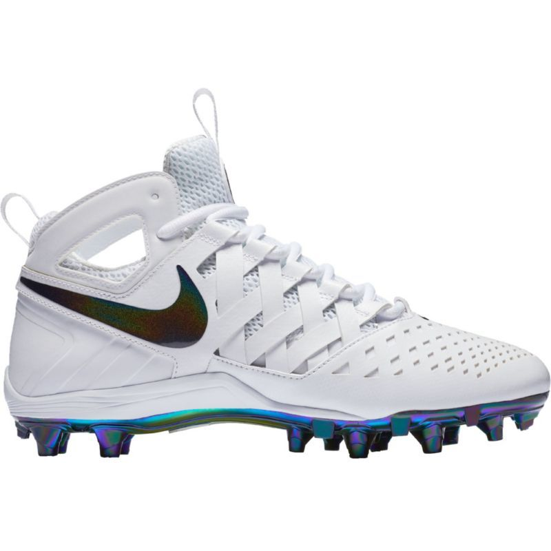 Nike Men's Huarache V Lax LE Mid Lacrosse Cleats, Size: 8.5, White