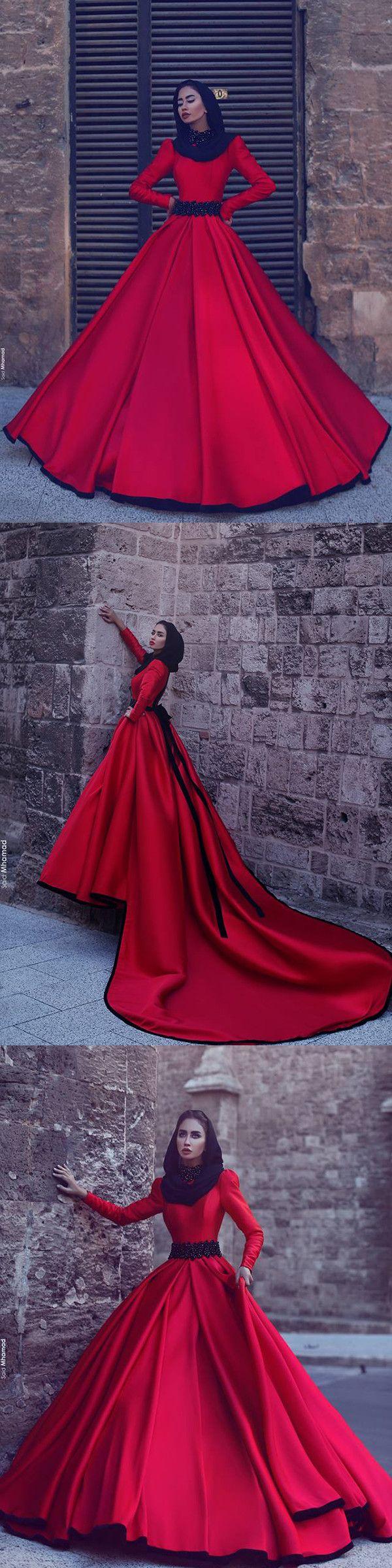 red vintage wedding dress long sleeve cheap wedding dress