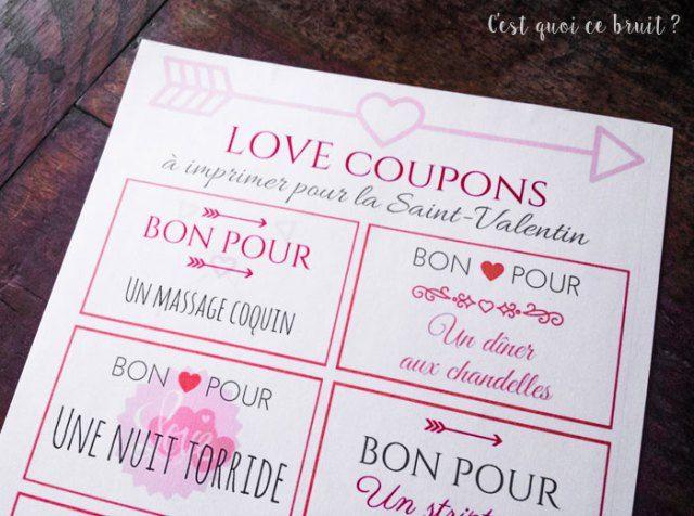 Des Bons D Amour A Imprimer Pour La Saint Valentin Cadeau St