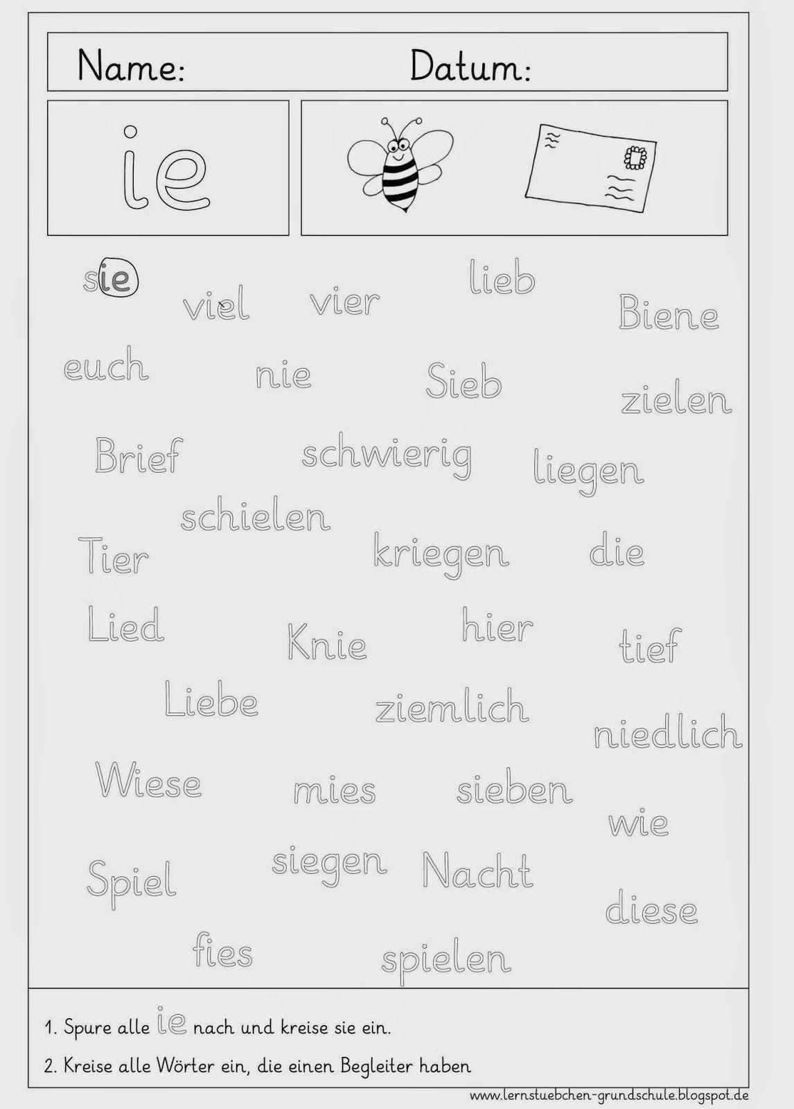Arbeitsblätter rund um das ie | Schule, Deutsch und Einen schönen tag