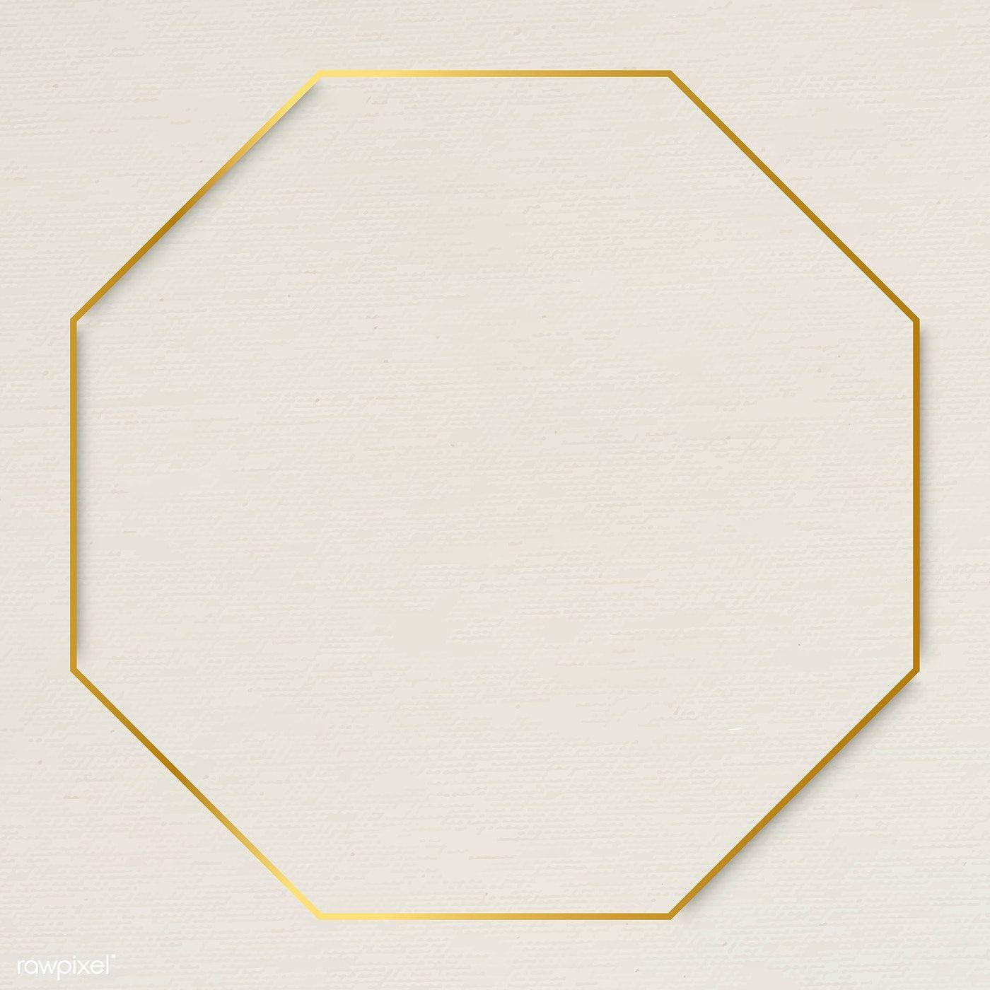 Octagon Gold Frame On Beige Background Vector Premium Image By Rawpixel Com Te Beige Background Gold Frame Frame Logo
