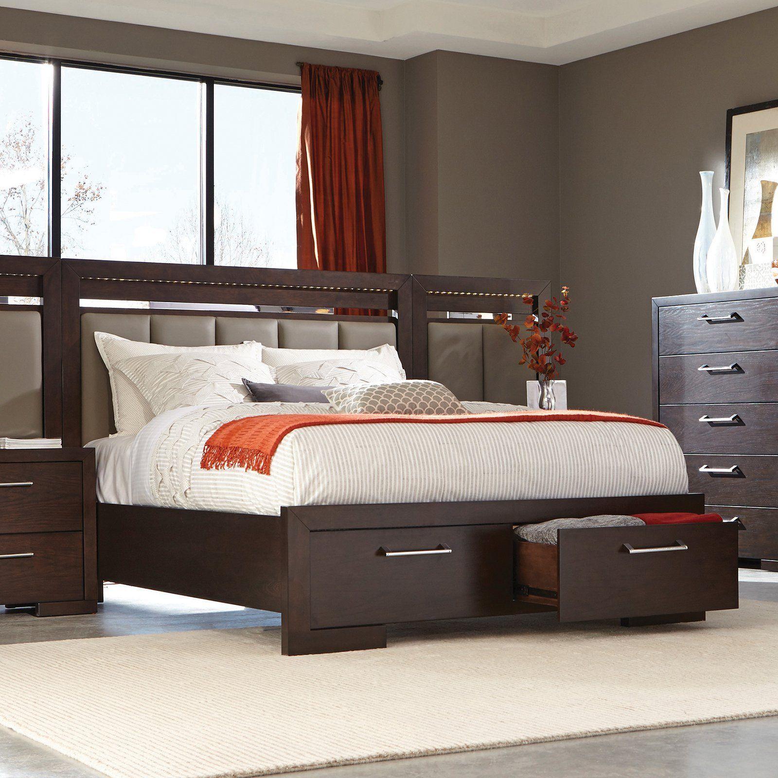 Coaster Furniture Berkshire Upholstered Storage Bed