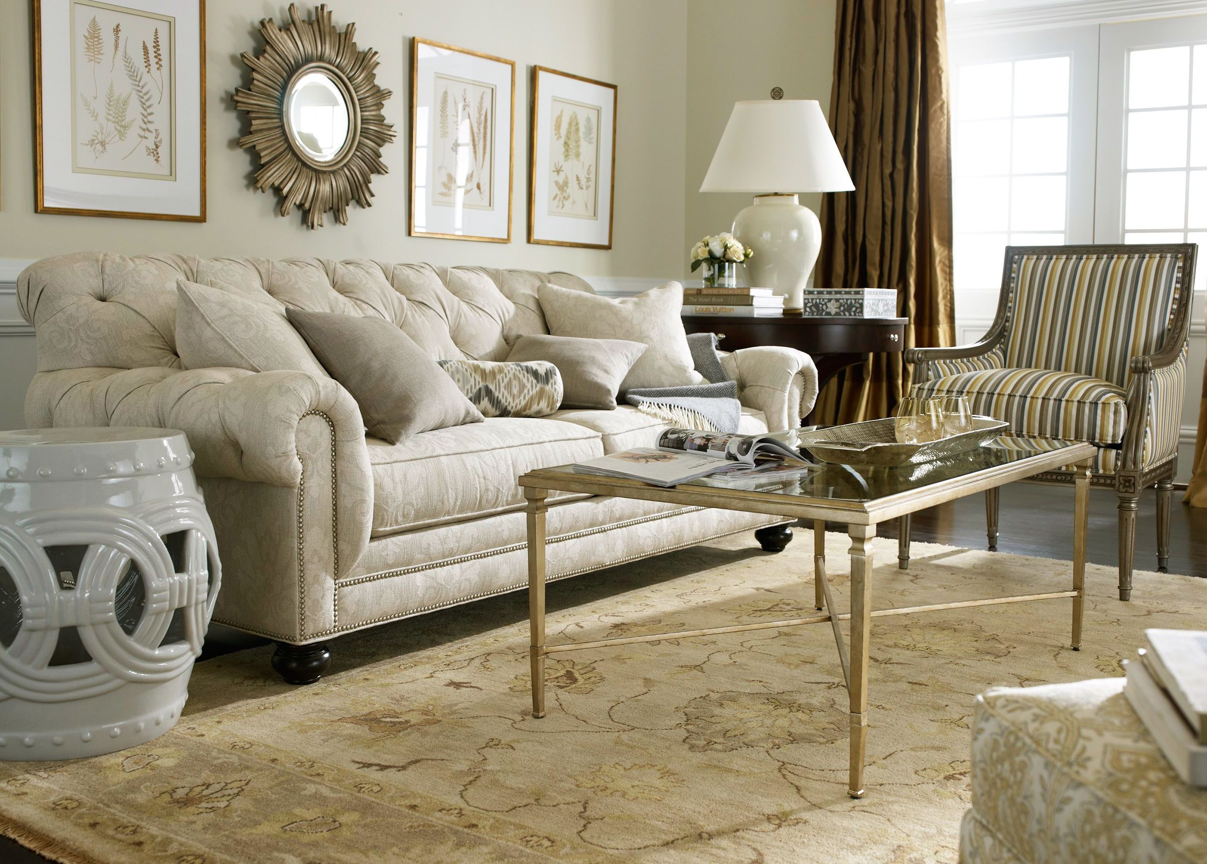 A Modern Chic Living Room With Silver Accents Ethanallen