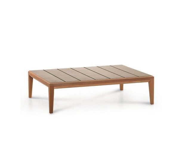 Designed By Gordon Guillaumier For Roda Teka Is An Outdoor Coffee Table With Frame And Legs In Teak And Stone Coffee Table Quality Outdoor Furniture Furniture