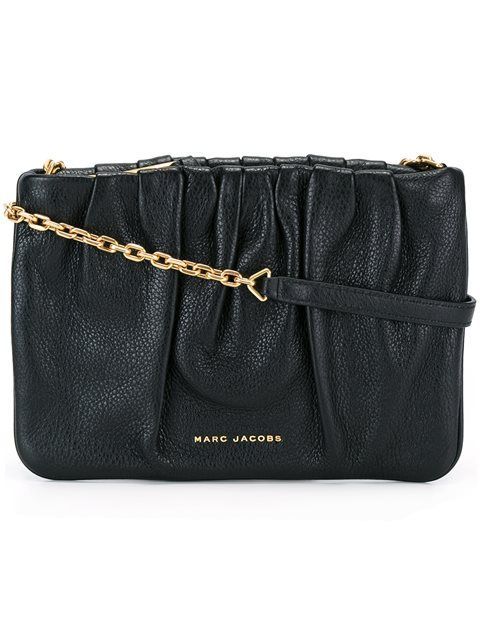 MARC JACOBS gathered crossbody bag. #marcjacobs #bags #shoulder bags #leather #crossbody #