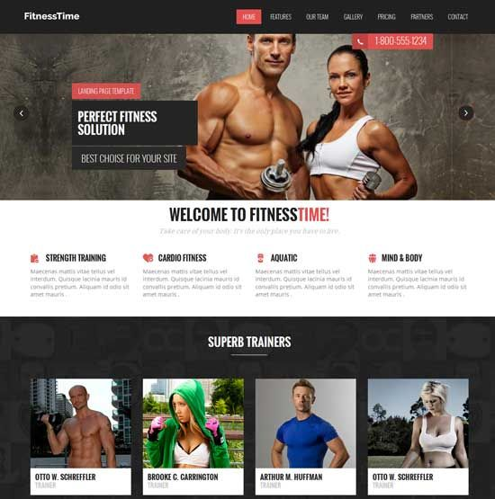 Free-Fitness-Flat-Bootstrap-Responsive-Template Website Design - Fitness Templates Free