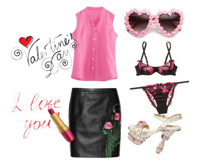 """""""Valentine's Date Night ❤"""" by mnr-jewel on Polyvore featuring Agent Provocateur, Christopher Kane, Dolce&Gabbana, women's clothing, women, female, woman, misses and juniors"""