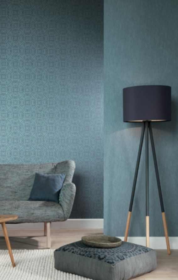 Rasch-Textil Indigo-226286 Blau-Grau Ornament-Muster Vliestapete - schlafzimmer blau grau
