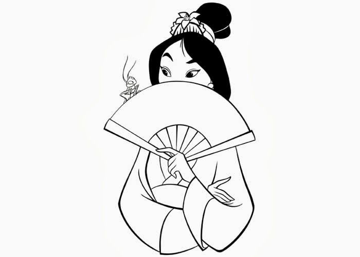 mulan shame coloring pages for kids printable mulan coloring pages for kids