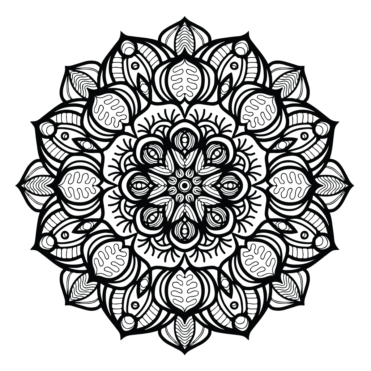 Free coloring page: Floral Mandala Coloring | Free Adult Coloring ...