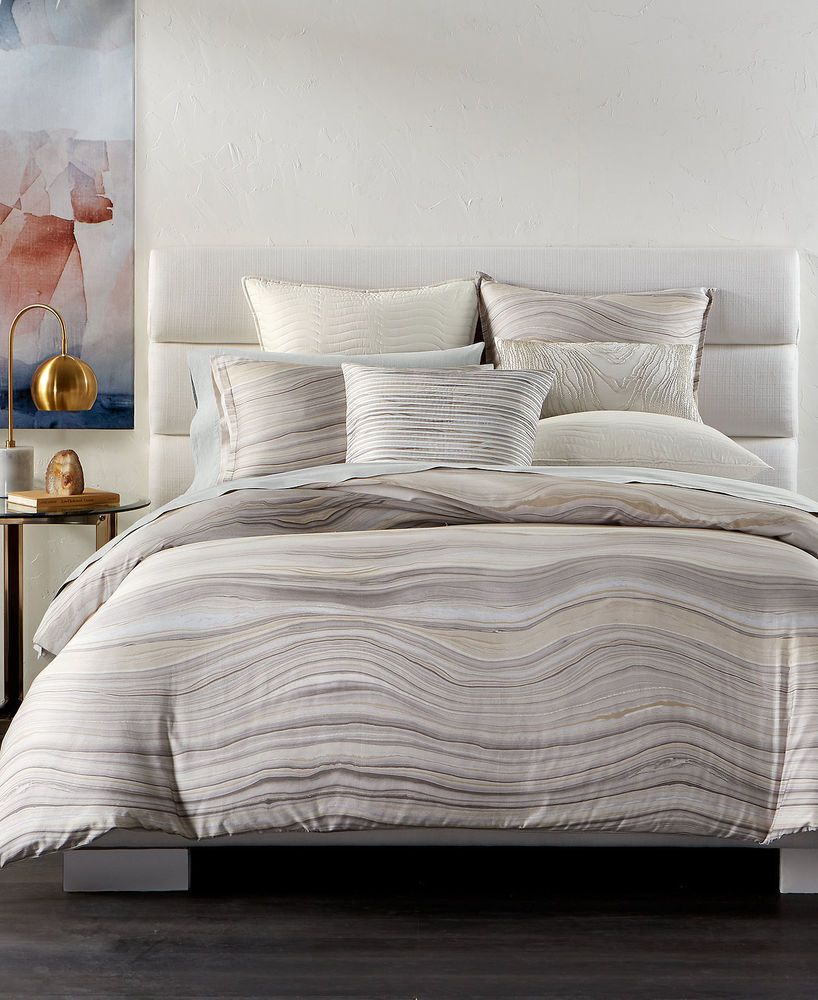new hotel collection agate wavy stripe multi full queen duvet comforter cover