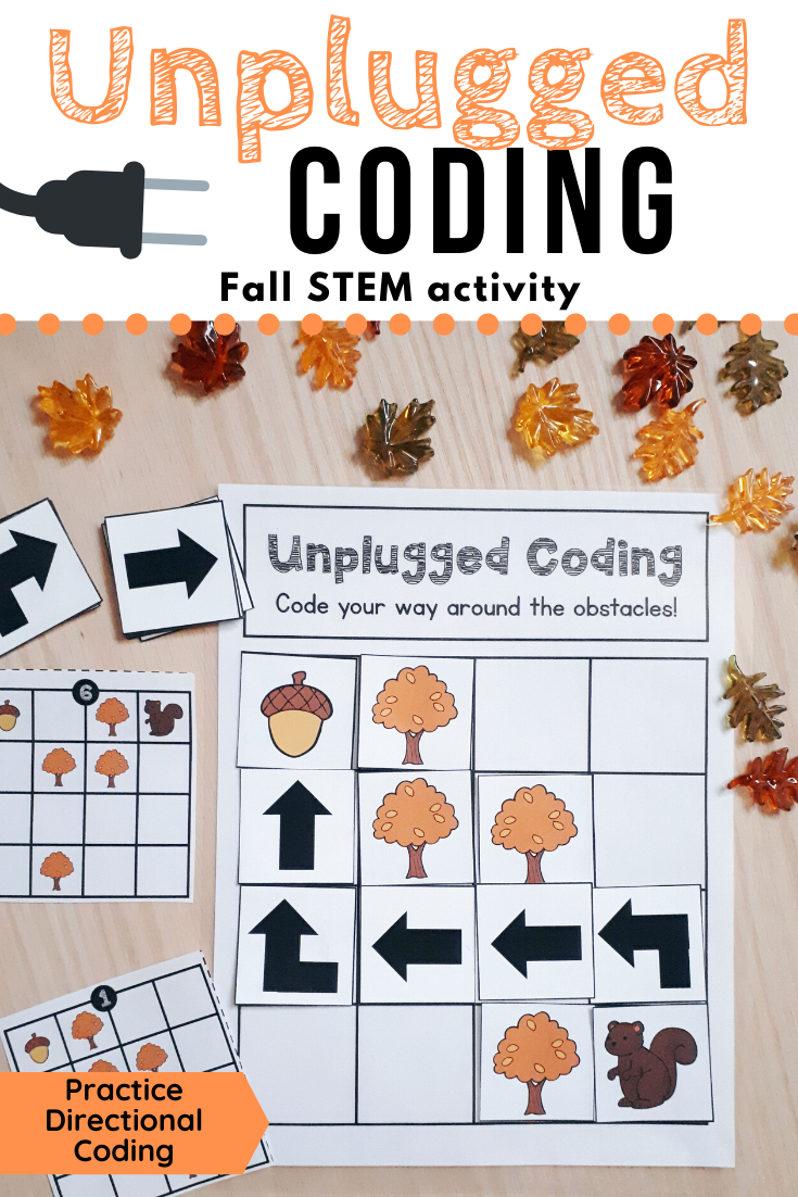 Fall Unplugged Coding Activity For Beginners English French Unplugged Coding Activities Autumn Preschool Theme Fall Stem Activities [ 1102 x 735 Pixel ]
