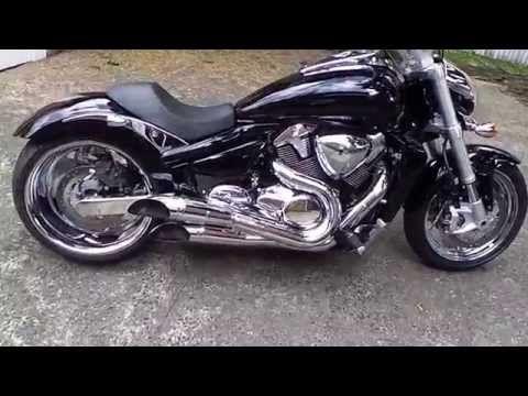 suzuki m109r in traffic1800cc boulevard - youtube | m109r