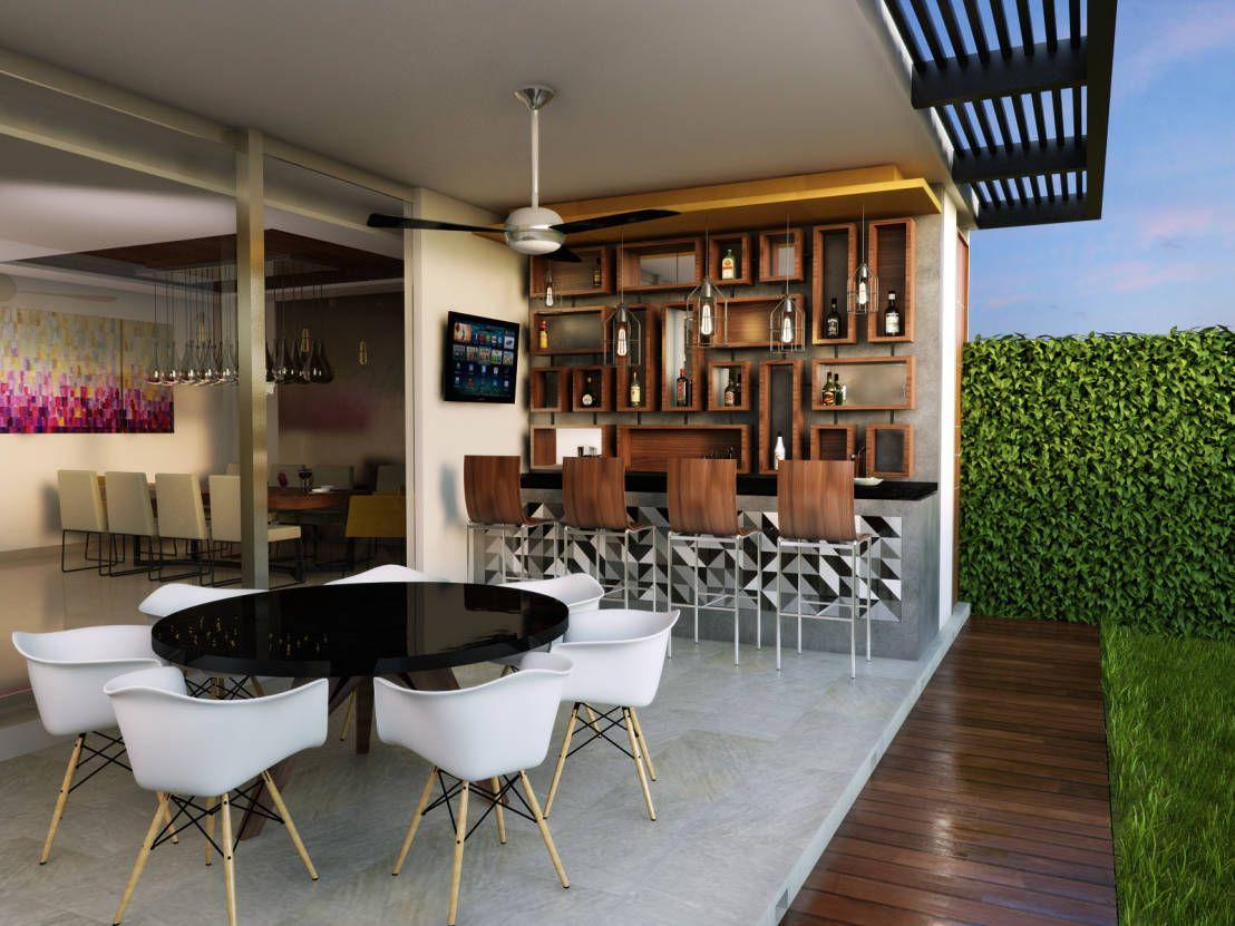 Top 5 15 Ideas Que Te Van A Inspirar A Poner Un Minibar En Tu Patio Homify Decoracion De Bar De Casa Bares En Casa Pequenos Barra De Bar En Casa