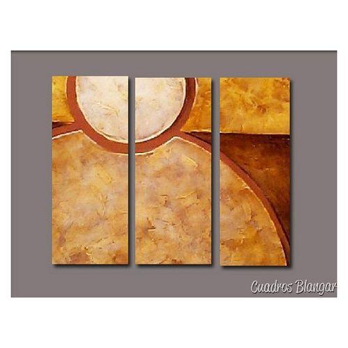 cuadros abstractos tripticos para sala manualidades