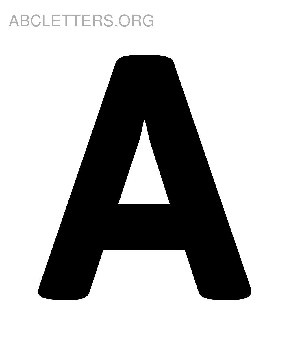 big printable abc letters a