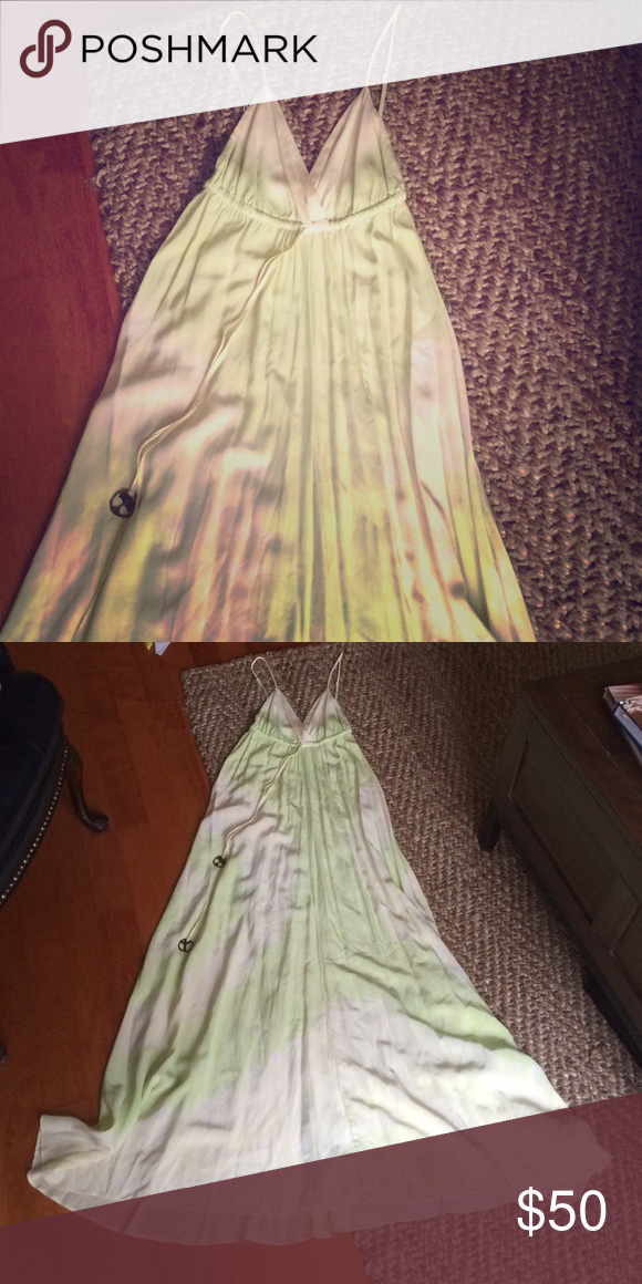 PRICE DROP- BEST tie dye maxi!!!! Cutest lime green and off white ombré maxi. Perfect for summer!!!! Gypsy 05 Dresses Maxi
