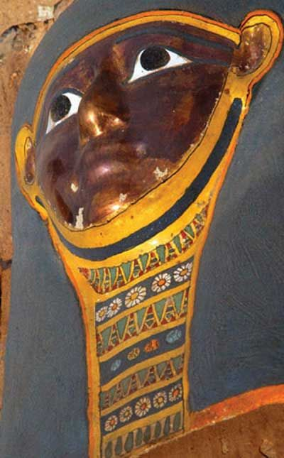 Mummy found at Saqqara — World Archaeology An Egyptian-led team of archaeologists have discovered a brilliantly-coloured mummy at the Saqqara Pyramids complex near Cairo, Egypt. The mummy is thought to have been buried around 300 BC.