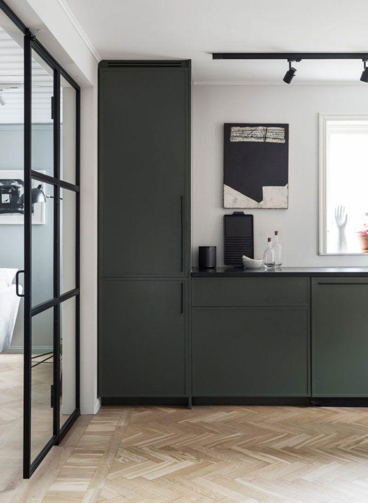 dark green cocinas Pinterest Cocina gris, Cocinas y Aberturas