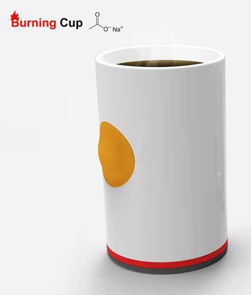 This Cup Keeps Your Coffee Hot With The Push Of A Button Mugs Coffee Cups Hot Drink