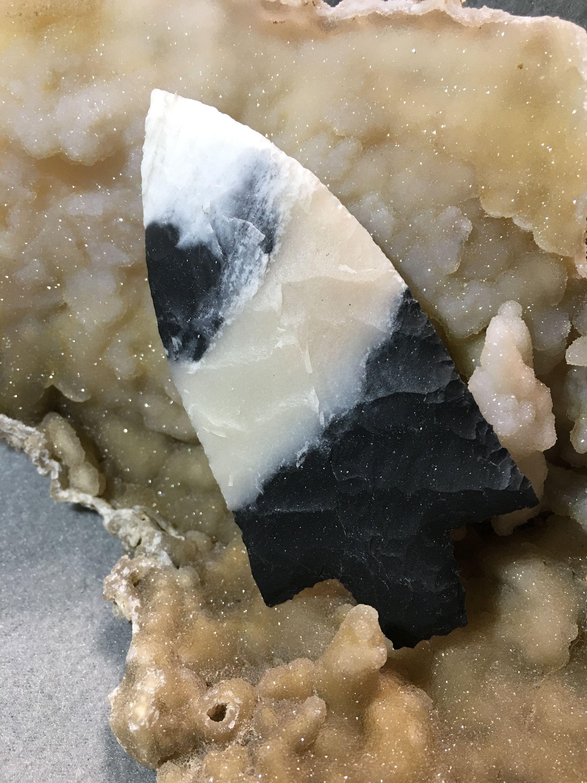 Handmade flint arrowhead