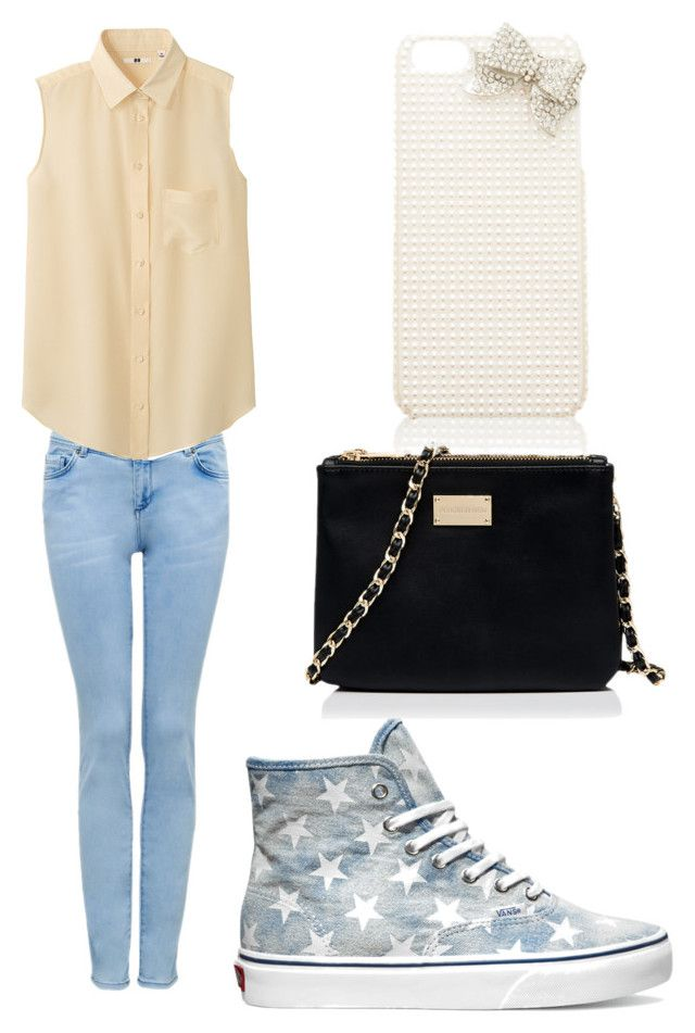 """""""Casual"""" by outfits-1 ❤ liked on Polyvore featuring Forever New, Uniqlo and Vans"""