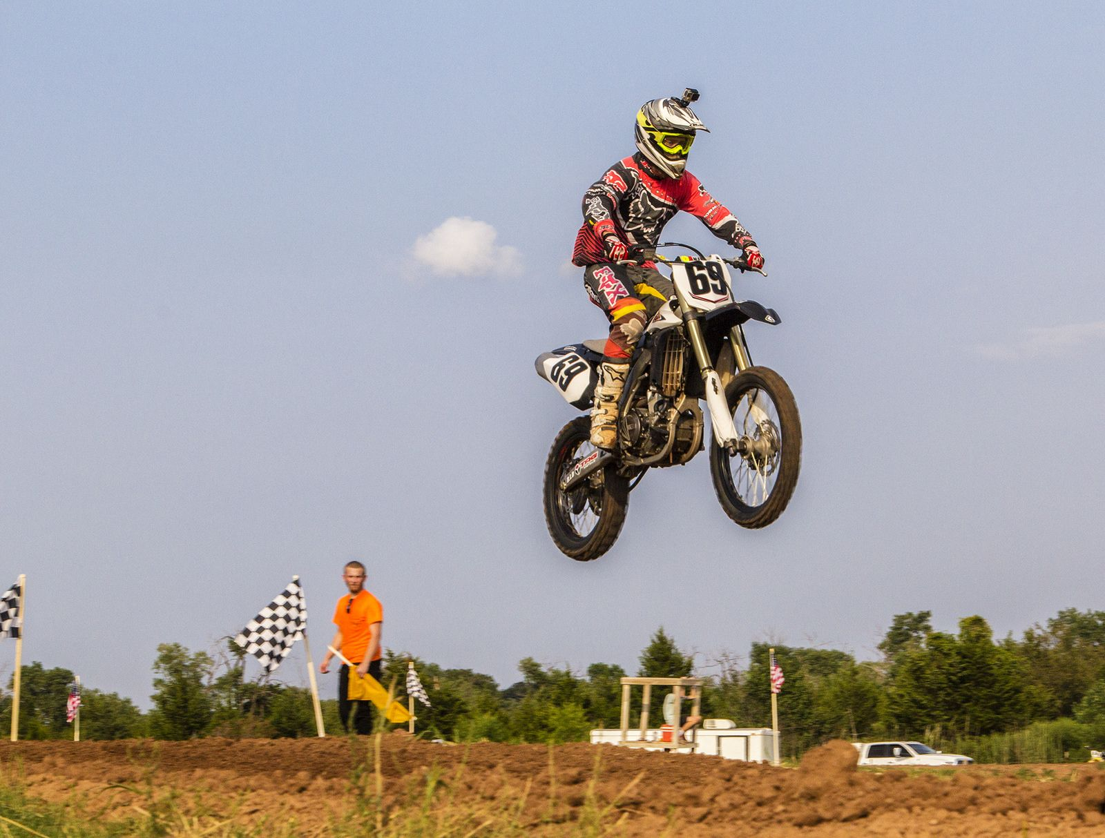 https://flic.kr/p/xGwTBQ | Clearing the Jump | Motocross racing at the Oklahoma Motorsports Complex in Norman, Oklahoma.