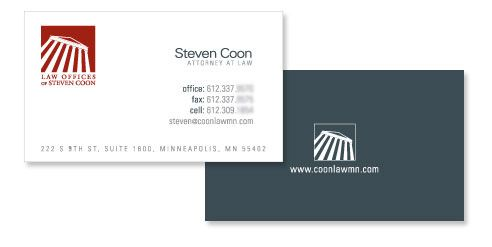 Law Offices of Steven Coon: Law Business Card Design | DESIGN ...