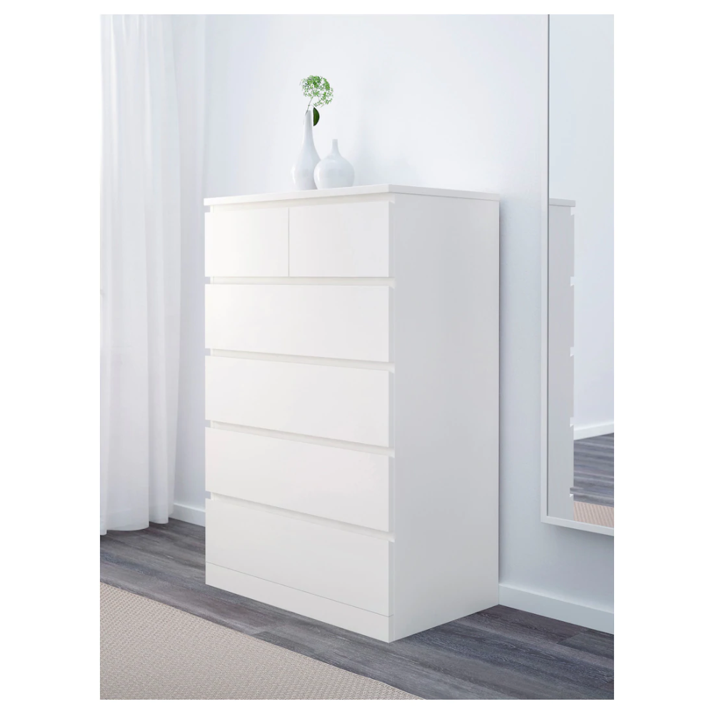Best Malm 6 Drawer Chest White 31 1 2X48 3 8 Chest Of 400 x 300